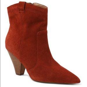 Kensie Kalila Burnt Sienna Suede Western Boot Size 11